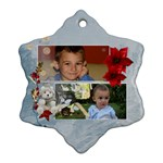 Christmas ornament snowflake - Snowflake Ornament (Two Sides)