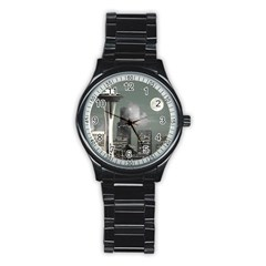 Space Needle Grey Mist Sport Metal Watch (black) by stineshop