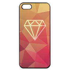 Diamond Apple Iphone 5 Seamless Case (black) by Contest1701949