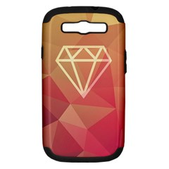 Diamond Samsung Galaxy S Iii Hardshell Case (pc+silicone) by Contest1701949