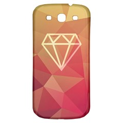 Diamond Samsung Galaxy S3 S Iii Classic Hardshell Back Case by Contest1701949
