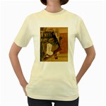 Pipe, Glass, Bottle of Vieux Marc Women s Yellow T-Shirt