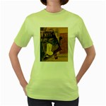 Pipe, Glass, Bottle of Vieux Marc Women s Green T-Shirt