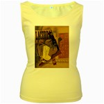 Pipe, Glass, Bottle of Vieux Marc Women s Yellow Tank Top