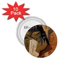 Pipe, Glass, Bottle of Vieux Marc 1.75  Button (10 pack)