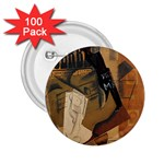 Pipe, Glass, Bottle of Vieux Marc 2.25  Button (100 pack)