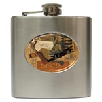 Pipe, Glass, Bottle of Vieux Marc Hip Flask (6 oz)