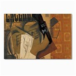 Pipe, Glass, Bottle of Vieux Marc Postcard 4 x 6  (Pkg of 10)