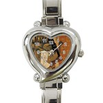 Pipe, Glass, Bottle of Vieux Marc Heart Italian Charm Watch