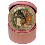 Pipe, Glass, Bottle of Vieux Marc Jewelry Case Clock