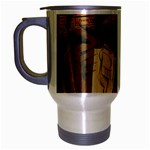 Pipe, Glass, Bottle of Vieux Marc Travel Mug (Silver Gray)