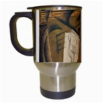 Pipe, Glass, Bottle of Vieux Marc Travel Mug (White)
