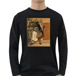 Pipe, Glass, Bottle of Vieux Marc Long Sleeve Dark T-Shirt