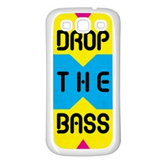 Drop The Bass Samsung Galaxy S3 Back Case (white)