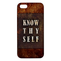 Know Thyself Iphone 5 Premium Hardshell Case