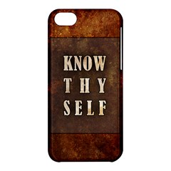 Know Thyself Apple Iphone 5c Hardshell Case by Contest1775858