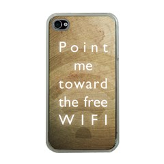 Free WIFI Apple iPhone 4 Case (Clear)