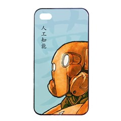Robot Dreamer Apple Iphone 4/4s Seamless Case (black) by Contest1780262