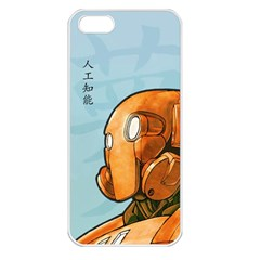 Robot Dreamer Apple Iphone 5 Seamless Case (white) by Contest1780262