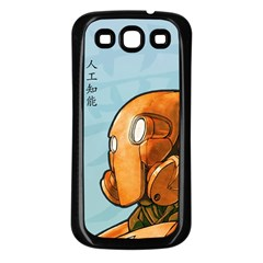 Robot Dreamer Samsung Galaxy S3 Back Case (Black) by Contest1780262