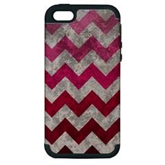 Chevron  Apple Iphone 5 Hardshell Case (pc+silicone)
