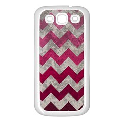 Chevron  Samsung Galaxy S3 Back Case (white)