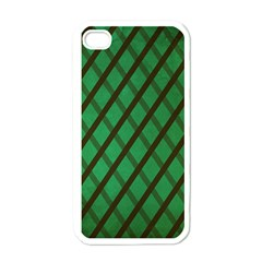 Green Stripes Apple Iphone 4 Case (white)
