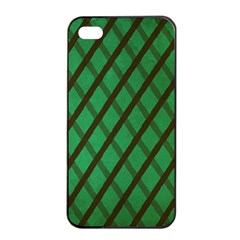 Green Stripes Apple Iphone 4/4s Seamless Case (black) by Contest1775858