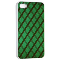 Green Stripes Apple Iphone 4/4s Seamless Case (white)