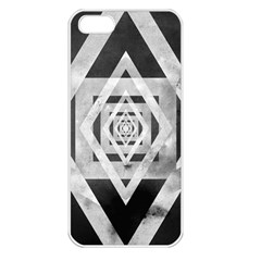 Geometric B&w Apple Iphone 5 Seamless Case (white)
