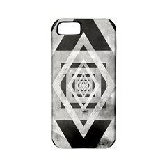 Geometric B&w Apple Iphone 5 Classic Hardshell Case (pc+silicone)