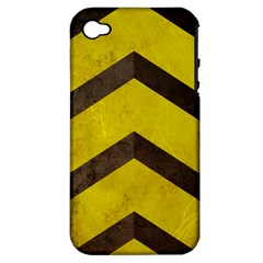 Caution Apple Iphone 4/4s Hardshell Case (pc+silicone)