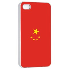 Chinese Flag Apple Iphone 4/4s Seamless Case (white)