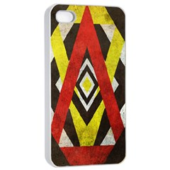 Sharp Edges Apple iPhone 4/4s Seamless Case (White) by Contest1775858