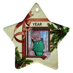 Christmas Date Star Ornament (2 Sides) By Lil    Star Ornament (two Sides)   3i4zkp3j4emu   Www Artscow Com Front