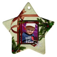 Christmas Date Star Ornament (2 Sides) By Lil    Star Ornament (two Sides)   3i4zkp3j4emu   Www Artscow Com Back