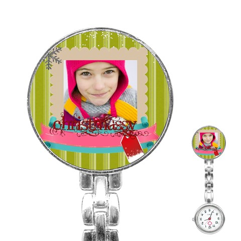 Merry Christmas By Merry Christmas   Stainless Steel Nurses Watch   Fp9hgslpm3c1   Www Artscow Com Front