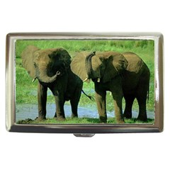 elephants Cigarette Money Case by D304863A