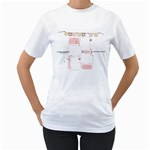women s T shirt - Women s T-Shirt (White) (Two Sided)