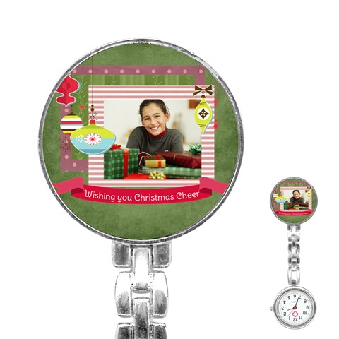 Merry Christmas By Merry Christmas   Stainless Steel Nurses Watch   19jcctx15aem   Www Artscow Com Front