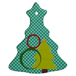 Christmas tree 2 side ornaments - Christmas Tree Ornament (Two Sides)
