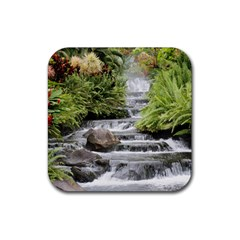 Waterfall Rubber Coaster (Square) by beachfront35