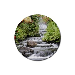 Waterfall Rubber Coaster (Round) by beachfront35