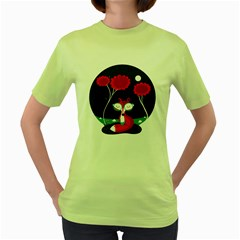 The Red Fox Womens  T Shirt (green)