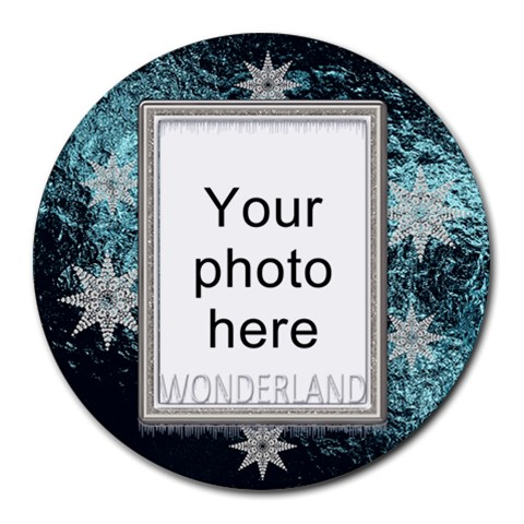 Winter Wonderland Round Mousepad By Lil    Round Mousepad   4x7qy2o9852r   Www Artscow Com Front