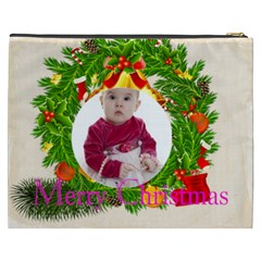 Merry Christmas By Debe Lee   Cosmetic Bag (xxxl)   Loswz2j0zh47   Www Artscow Com Back
