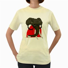 Hipsterphant  Womens  T Shirt (yellow)