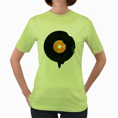 Melting Song Womens  T Shirt (green)
