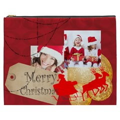 Merry Christmas By Xmas   Cosmetic Bag (xxxl)   N6rtd11j1rc4   Www Artscow Com Front