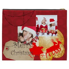 Merry Christmas By Xmas   Cosmetic Bag (xxxl)   N6rtd11j1rc4   Www Artscow Com Back
